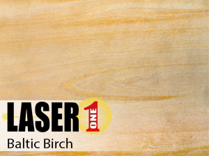 "Baltic Birch Plywood -  1/8"" (3mm) 12""x24"" Single Sheets"
